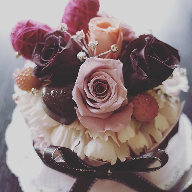 フラワーケーキ*ショコラ♡バレンタインにも♪