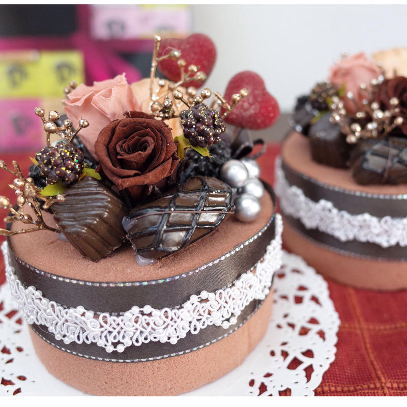 フラワーチョコレートケーキ