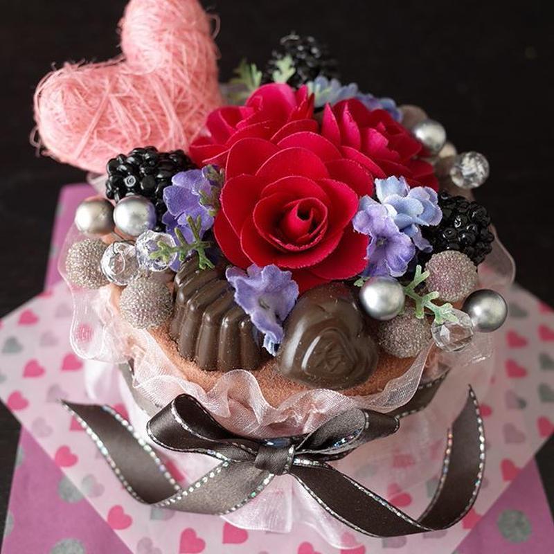 フラワーケーキ*ショコラ2♡バレンタインにも♪