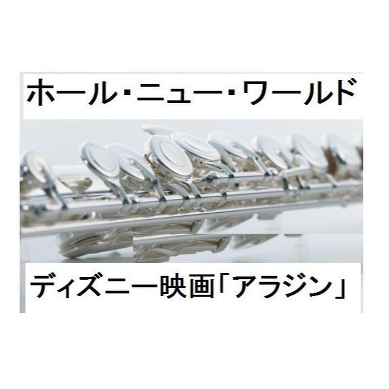 【フルート楽譜】ホール・ニュー・ワールド~ディズニー「アラジン」(フルートピアノ伴奏)