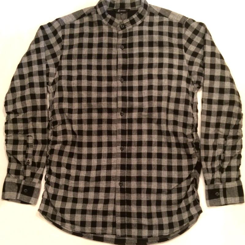 JohnBull ジョンブル shirring Band collar shirt バンドカラーシャツ 13490 ブラック