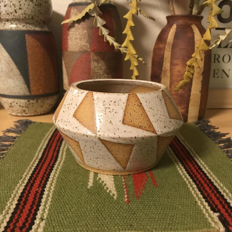 bkb ceramics Geometric planter ◆5◆bkbセラミックス 幾何学模様 鉢 プランター