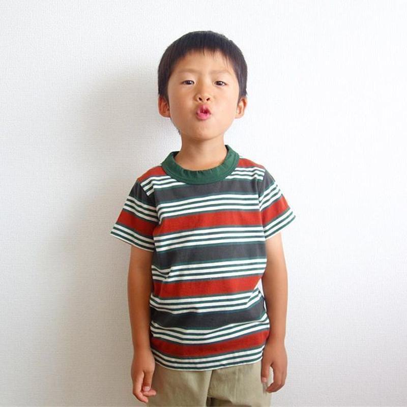 homspun kid's ボーダー天竺半袖Tシャツ