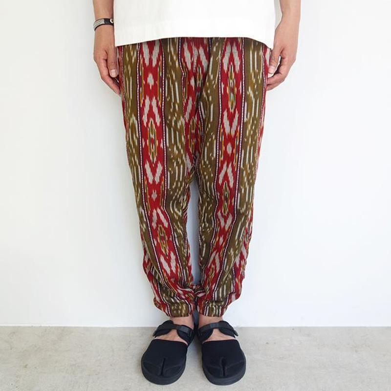 South2 West8 string slack pant - splashed stripe