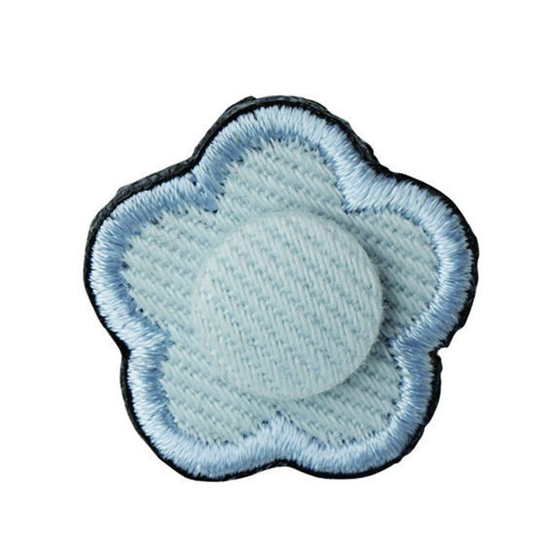 FT04080408 / EMBROIDERY BOUTONNIERE TWILL- blue mallow-
