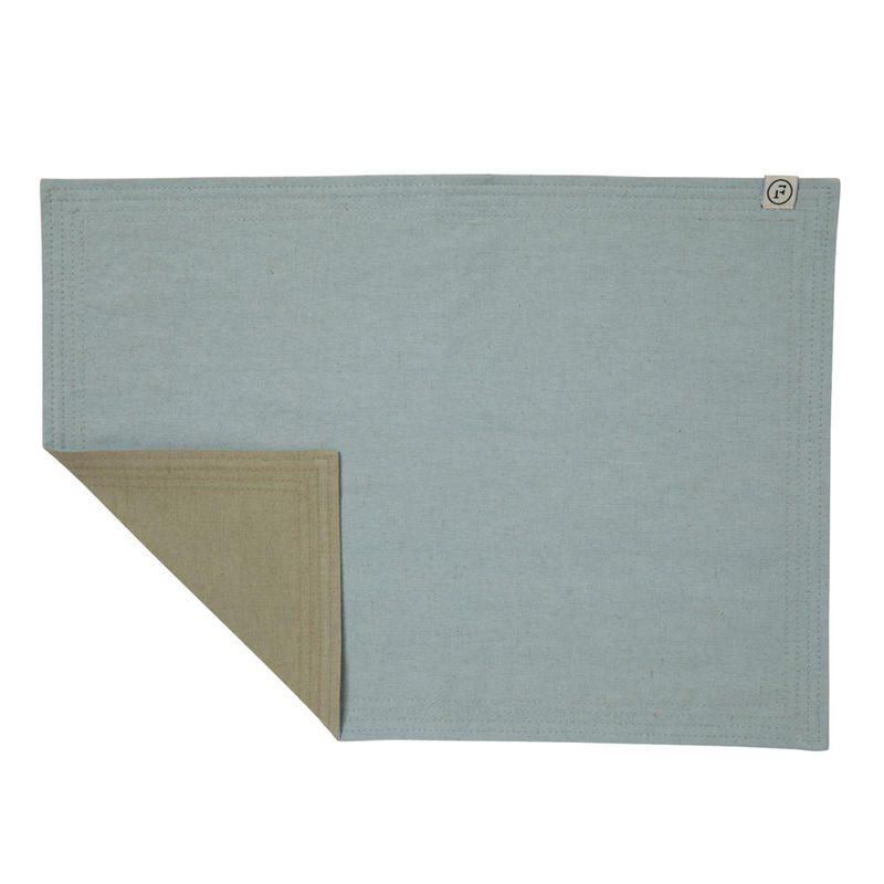 FT02030308 / PLACE MAT -  blue mallow  &  echinacea  -