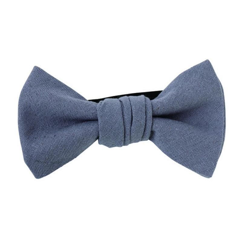 FT04060305 / COTTON LINEN BOW-  blueberry-