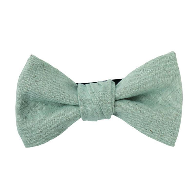 FT04060308 / COTTON LINEN BOW-  blue mallow -