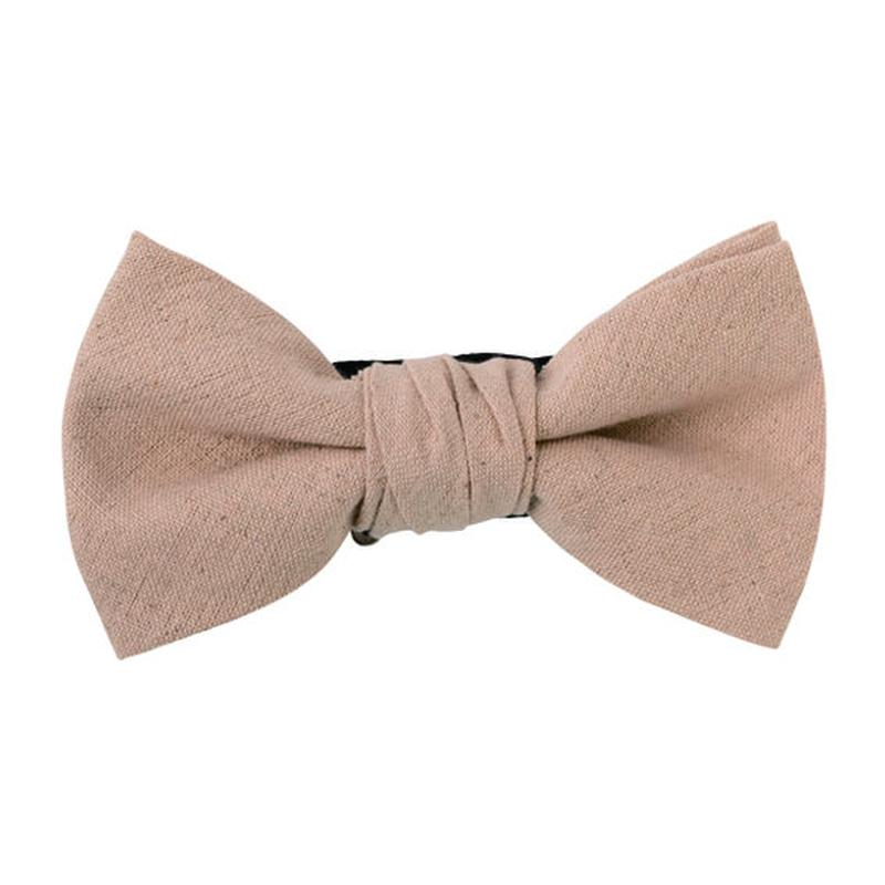 FT04060307 / COTTON LINEN BOW-  persimmon -