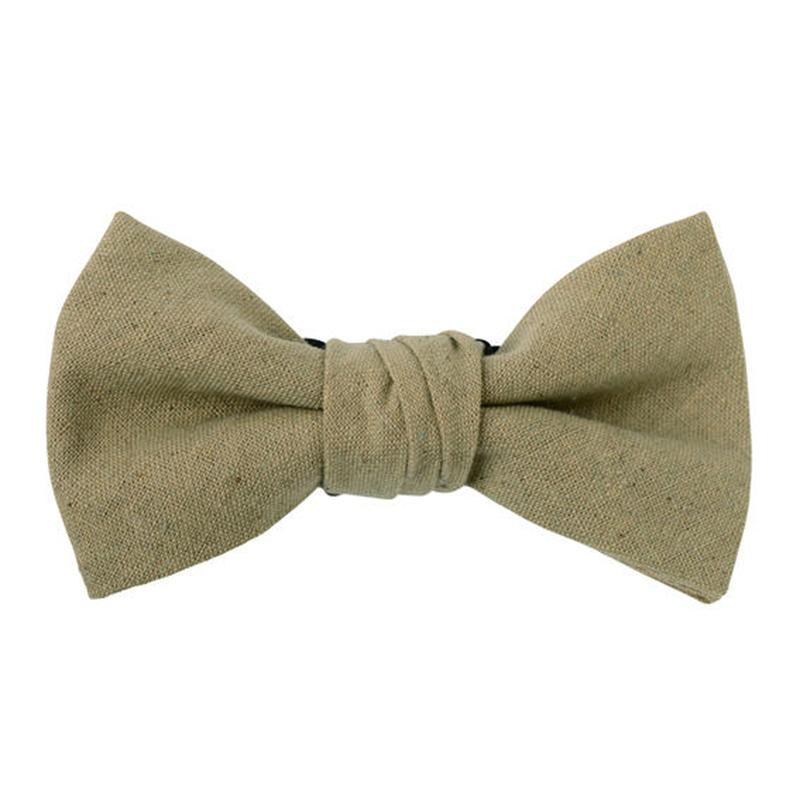FT04060317 / COTTON LINEN BOW-  echinacea-