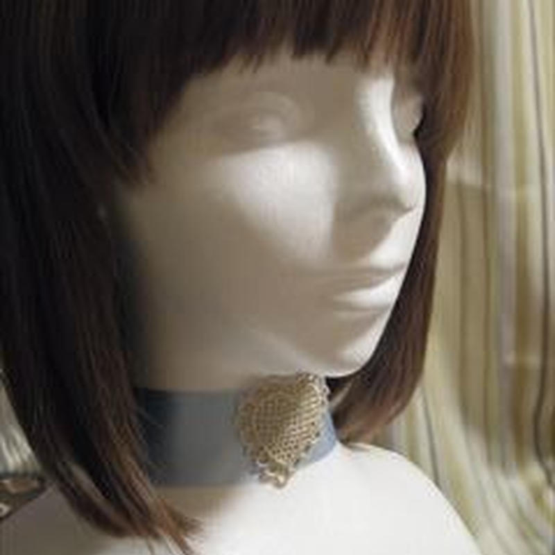 Heart lace チョーカー(Gold)