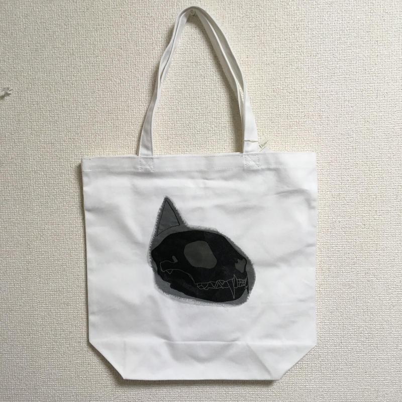 猫 横顔 トートバッグ