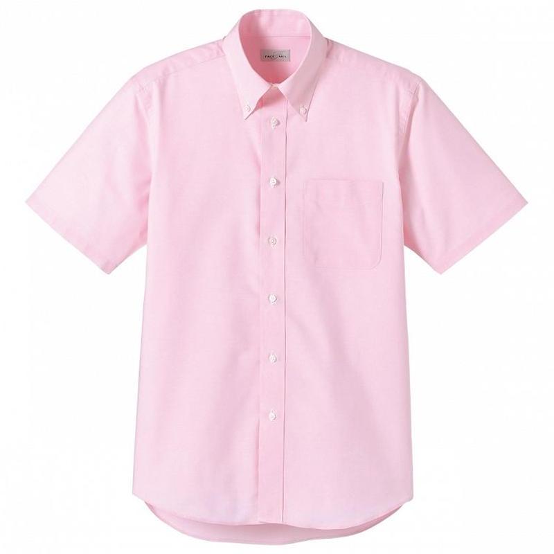 【Natural Smile】CASUAL SHIRT(Pink)/オックスフォード半袖(ピンク)