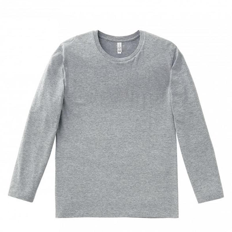 【Natural Smile】LONG T-SHIRT(Heather Gray)/3.8 オンスユーロロング Tシャツ(杢グレー)