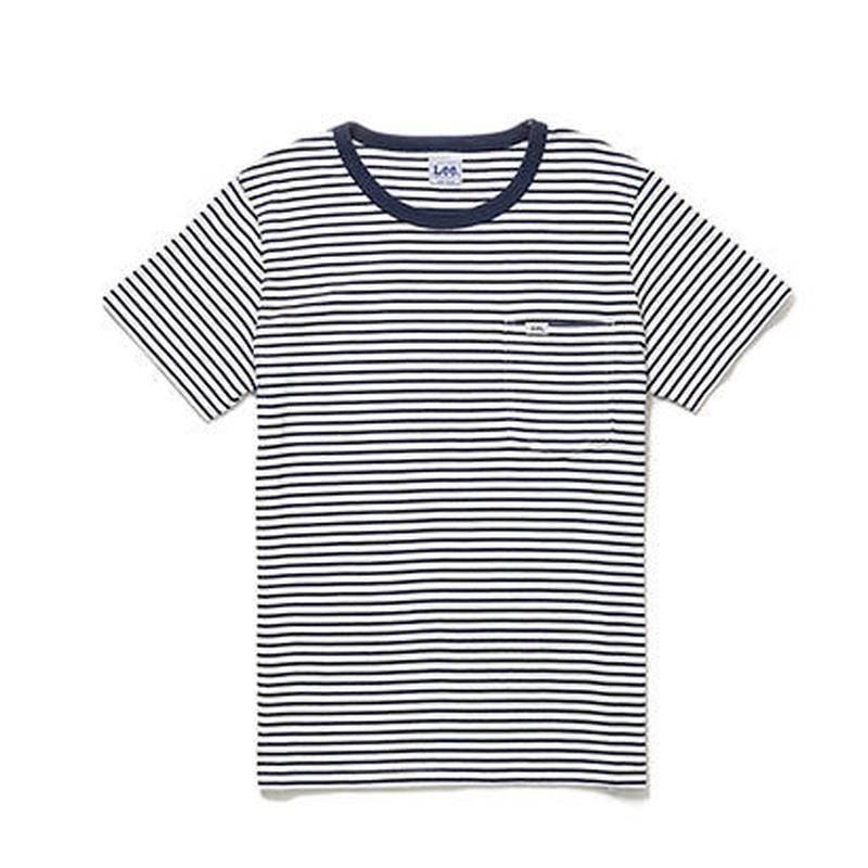 【Lee】T- SHIRTS(Navy×White)/Tシャツ 半袖(ネイビー×ホワイト)