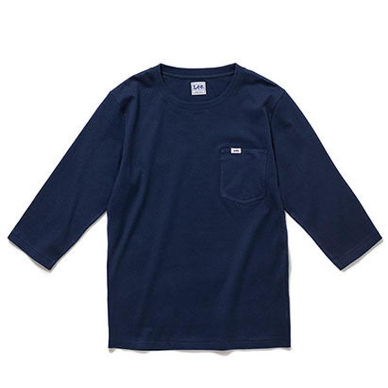 【Lee】T- SHIRTS(Navy)/Tシャツ 七分袖(ネイビー)