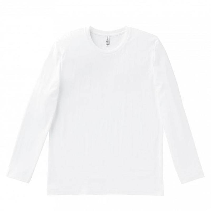 【Natural Smile】LONG T-SHIRT(White)/3.8オンス ユーロ ロングTシャツ(ホワイト)