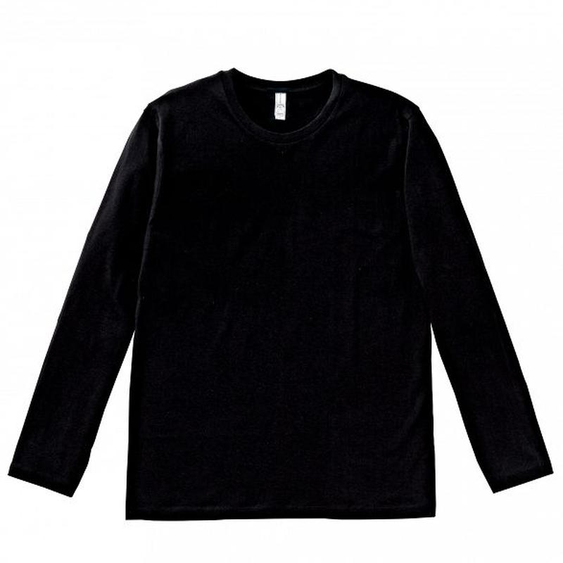 【Natural Smile】LONG T-SHIRT(Black)/3.8オンス ユーロロングTシャツ(ブラック)