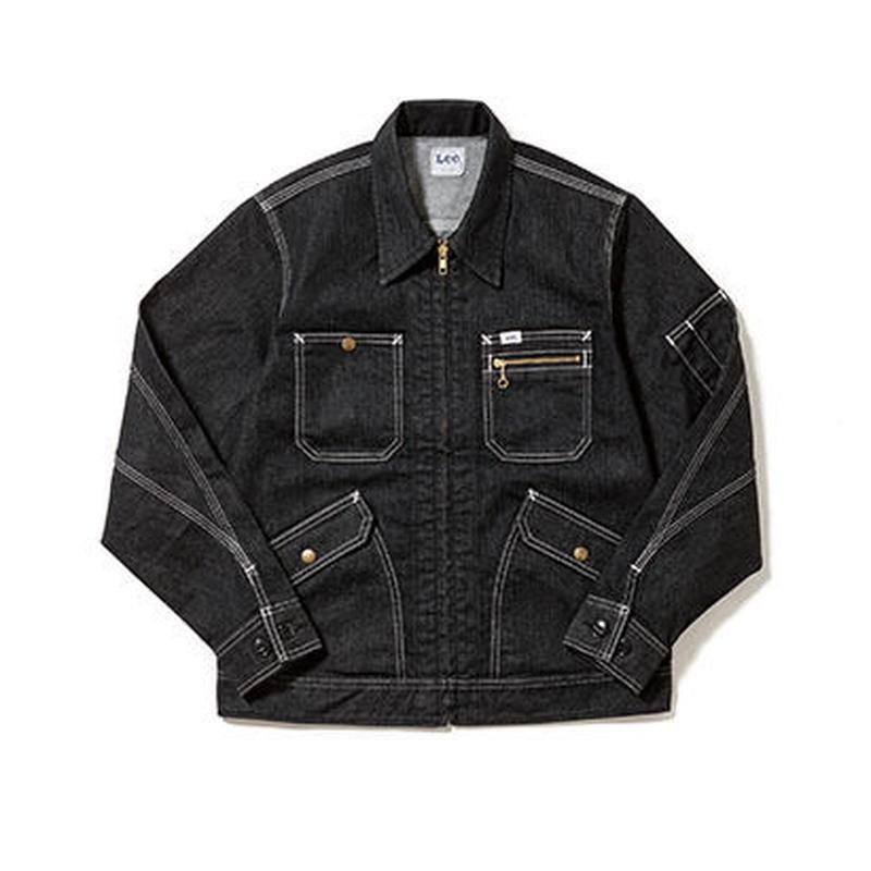 【Lee】MENS ZIP-UP JACKET(Black)/メンズ ジップアップ ジャケット(ブラック)
