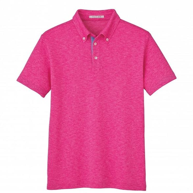 【Natural Smile】UNISEX POLO SHIRT(Pink)/ユニセックス吸汗速乾ポロシャツ(ピンク)