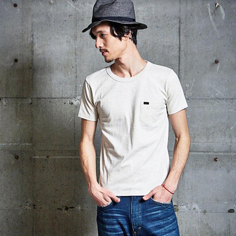【Lee】PACK POCKET T(Heather White)/パックポケットティーシャツ(杢ホワイト)