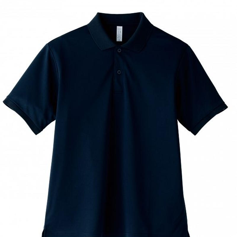 【Natural Smile】UNISEX POLO SHIRT(Navy)/ポロシャツ ユニセックス(ネイビー)