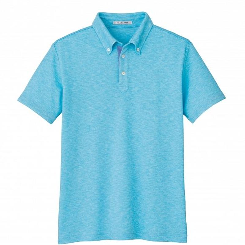 【Natural Smile】UNISEX POLO SHIRT(Blue)/ユニセックス吸汗速乾ポロシャツ(ブルー)