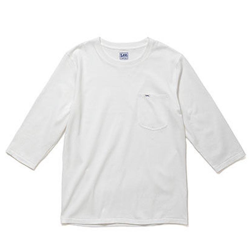【Lee】T- SHIRTS(White)/Tシャツ 七分袖(ホワイト)