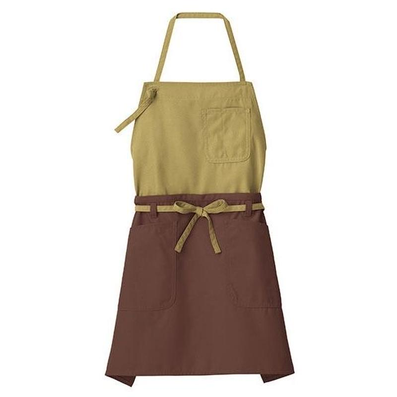 【Natural Smile】2WAY APRON(Moss Green×Brown)/2ウェイエプロン(モスグリーン×ブラウン)