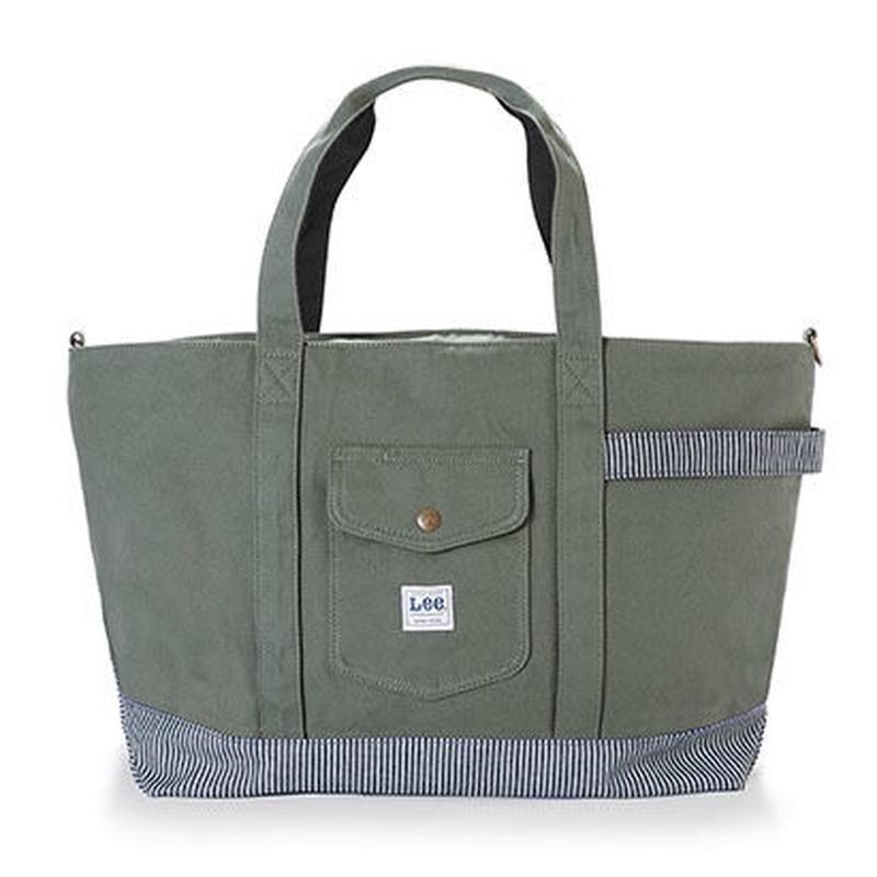【Lee】TOTE BAG(Khaki)/トートバッグ(カーキ)