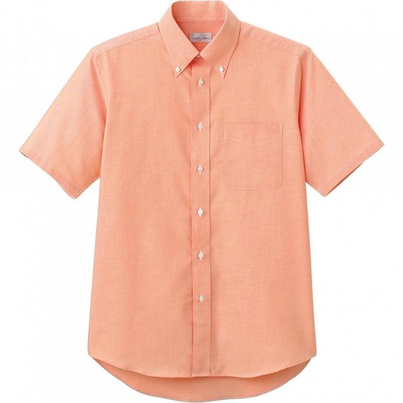 【Natural Smile】CASUAL SHIRT(Orange)/オックスフォード半袖シャツ(オレンジ)