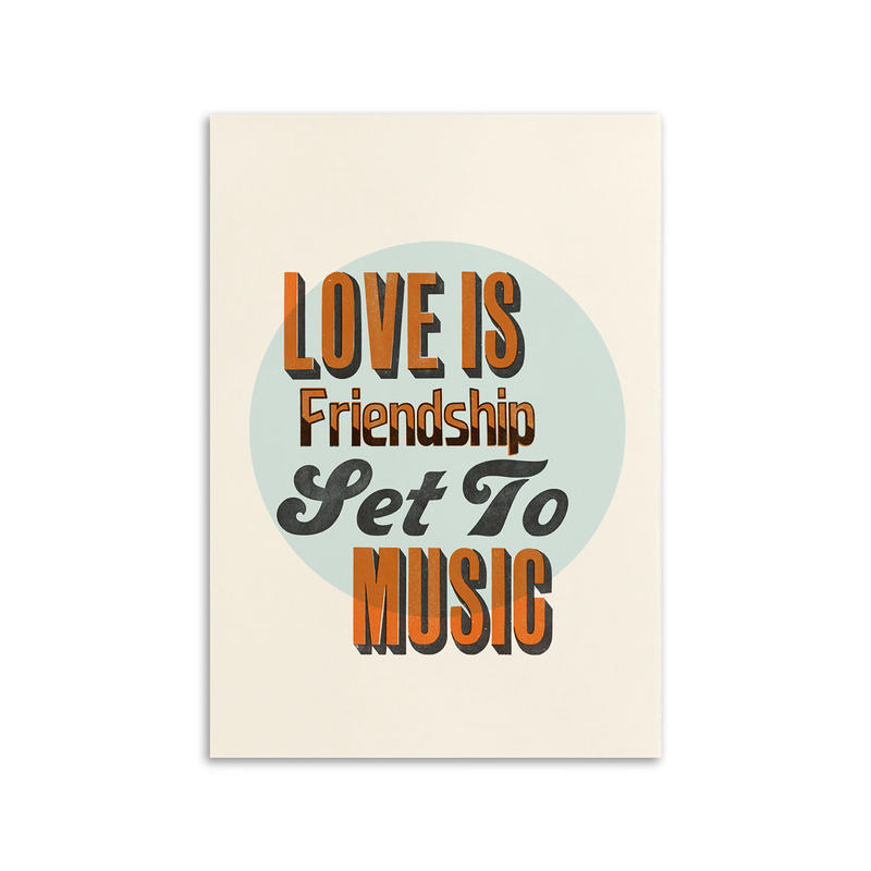 STEPHEN KENNY / LOVE IS FRIENDSHIP SET TO MUSIC / A3 ポスター