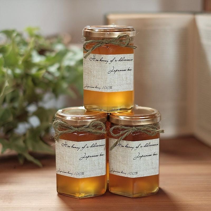 日本ミツバチの百花蜜(天然はちみつ)