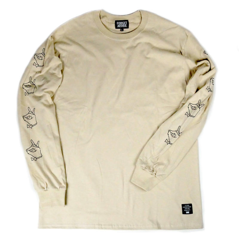 TIE BREAK SLEEVE PRINT - L/S T-Shirt  【Caffe Latte 】