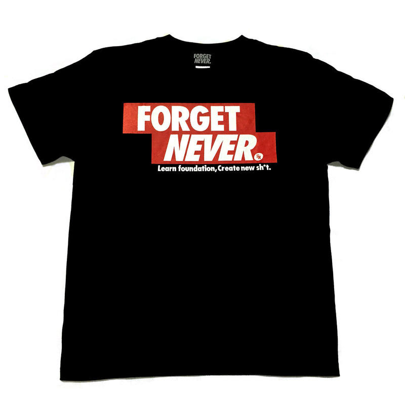 FORGET NEVER RED BOXLOGO T-SHIRT 【BLK】