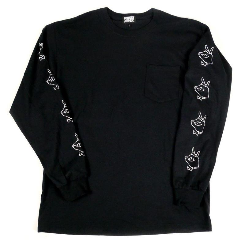 TIE BREAK - L/S T-Shirt with Pocket -【Black】