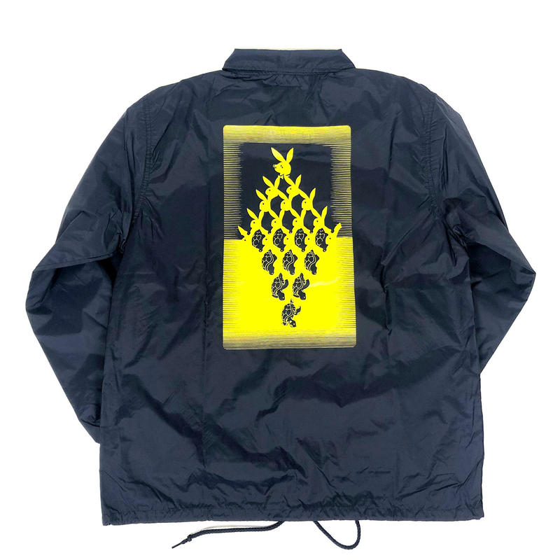 SLOW BUT STEADY LIMITED COACH JACKET 【NAVY / YELLOW】