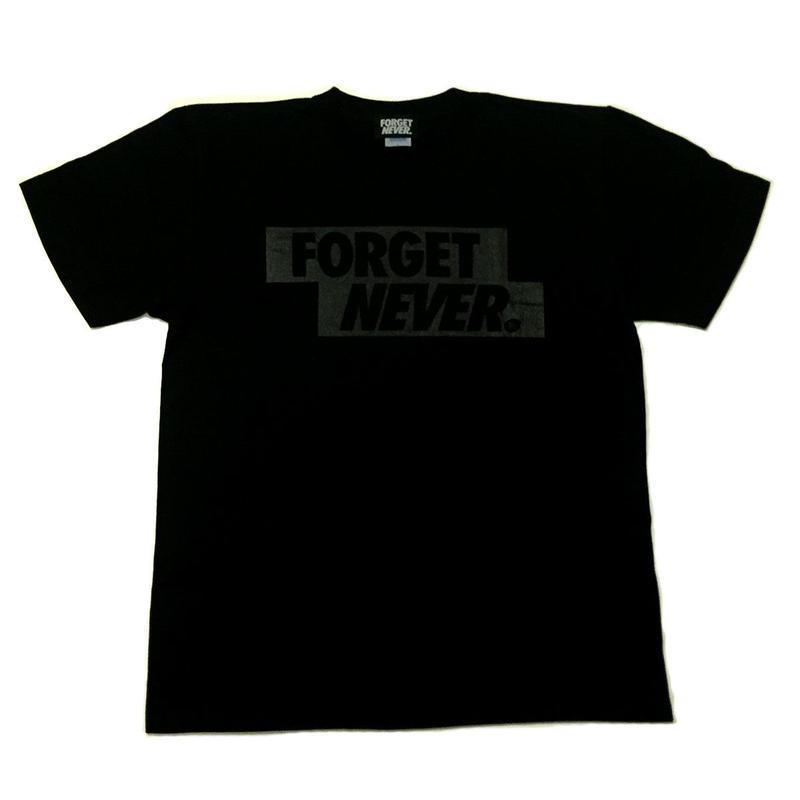 FORGET NEVER BOXLOGO T-SHIRT 【BLK/BLK】