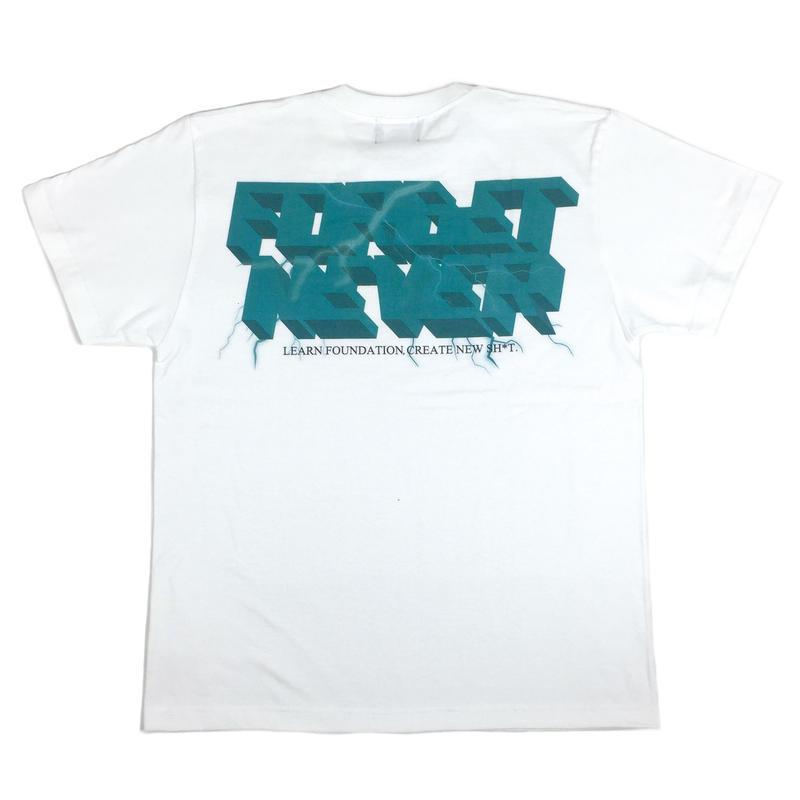 Lightning Bolt T-shirt ( White )