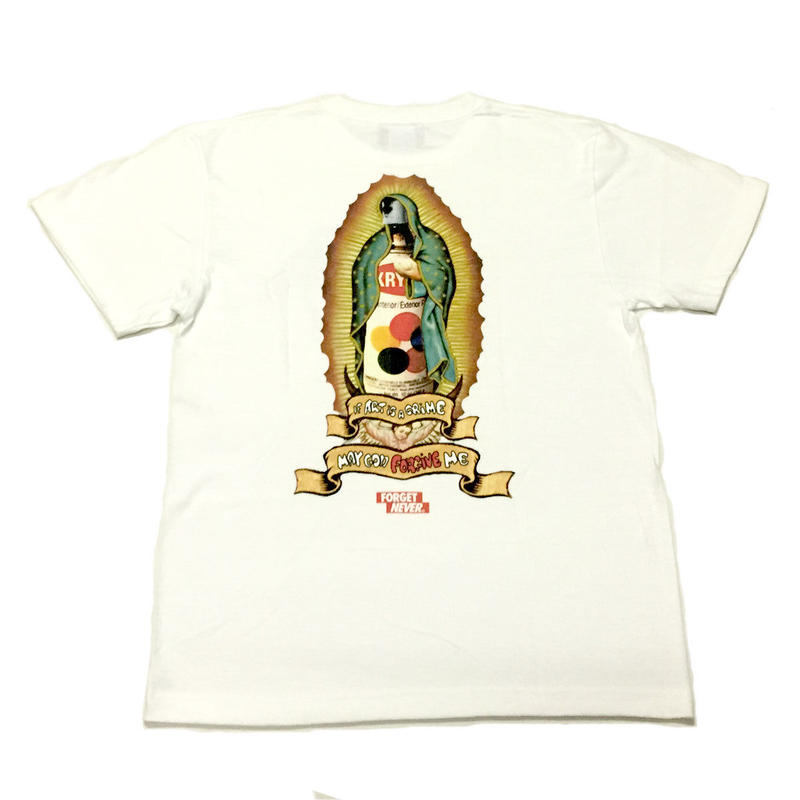 GOD FORGIVE ME T-SHIRTS 【WHITE】