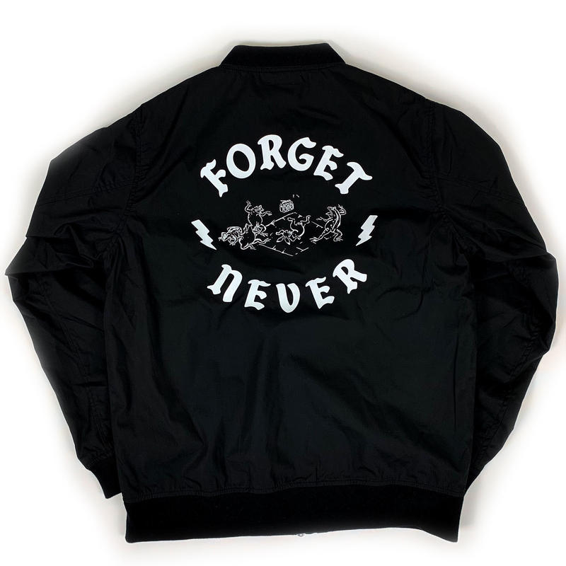 ANIMAL CYPHER - STADIUM JACKET【BLACK/WHITE】