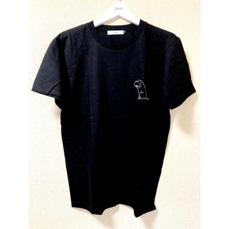 """forte """"Dog"""" Pocket T-shirts(Black)"""