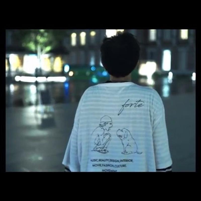 "【MV着用】forte""MAKE""Big Silhouette pocket T-shirts(White) - General Price"