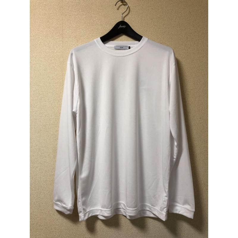 forte Dry Silky L/S Plain T-Shirts(White)