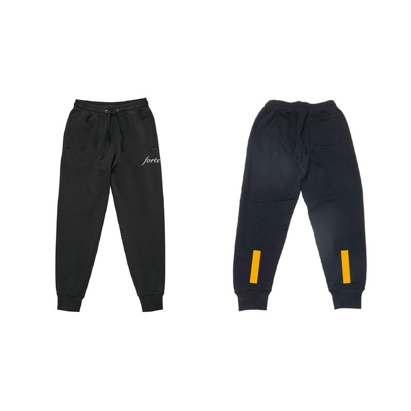 "forte sweat pants""Valencia""(Black)"