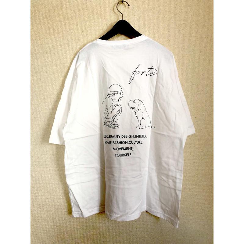 "forte""MAKE""Big Silhouette pocket T-shirts(White) - General Price"