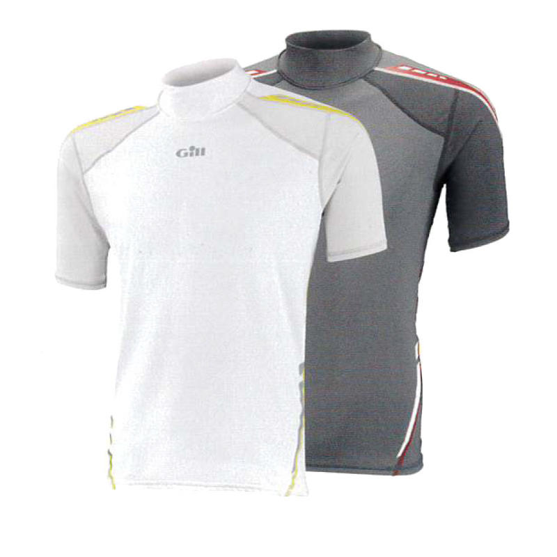 4421 Men's Sport UV Rash Vest Short Sleeve White/Silver L