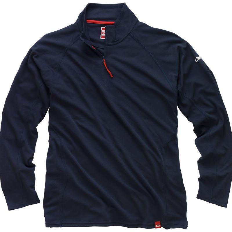 UV003 Men's UV Tec Zip Neck Long Sleeve
