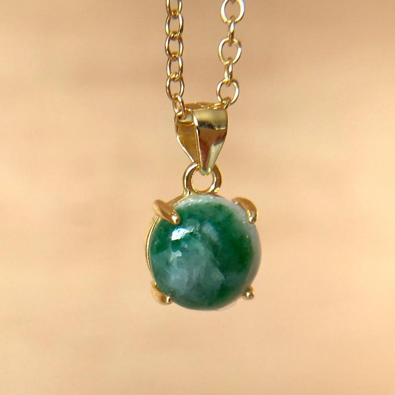 天然翡翠ネックレス2.17ct☆ 新潟県青海産の原石から磨きました