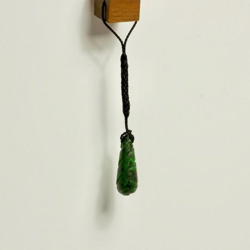 天然コスモクロア3.8g|根付け紐付き☆原石から磨きました